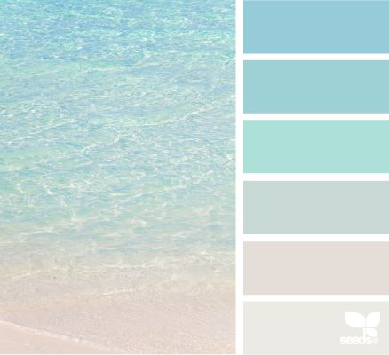 colour palette: crystal clear