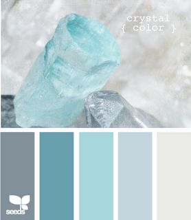 colour palette: crystal colours