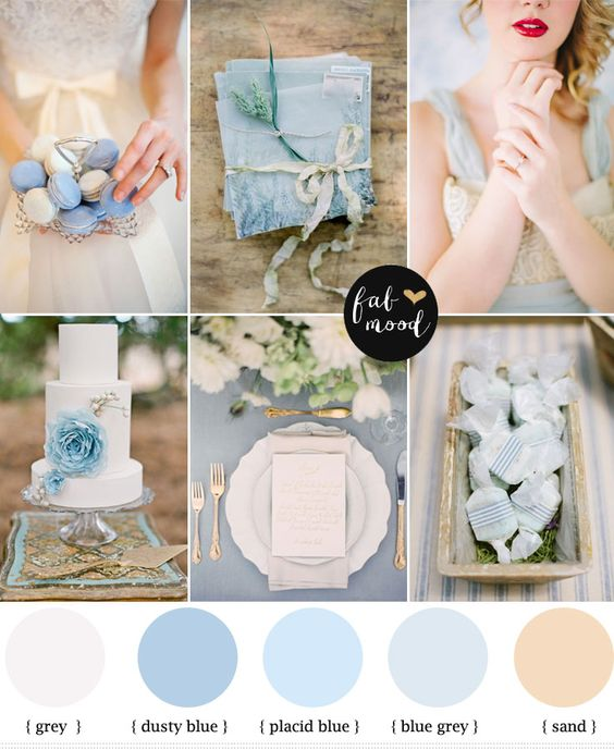colour palette: light blue wedding