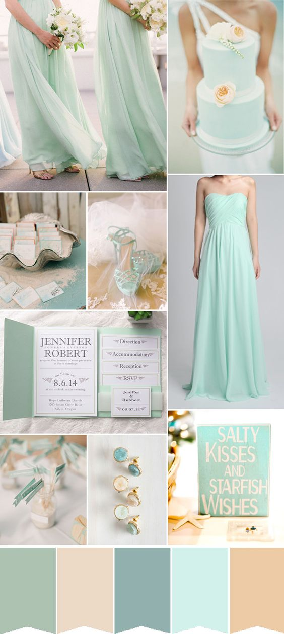 colour palette: summer beach wedding