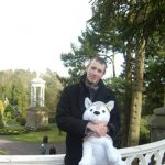 Alton Towers Trip - Chris with Husky