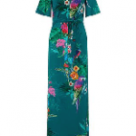 Nola Shorter Length Parrot Maxi Dress