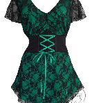 Emerald Gothic Sweetheart Corset