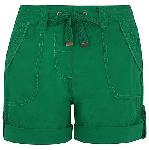 Green Poplin Bow Shorts