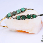 Raw emerald bracelets