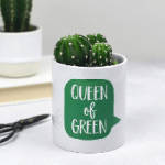 Queen of Green Plant Pot