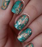 Cuprum Texture Nail Art