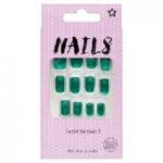 Superdrug Nails Short Square Deep Green