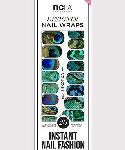 NCLA Blue Exotica Nail Wraps