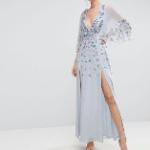 Embellished Kimono Maxi Dress