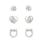 Silver Pearl 3 Pack Earringsn