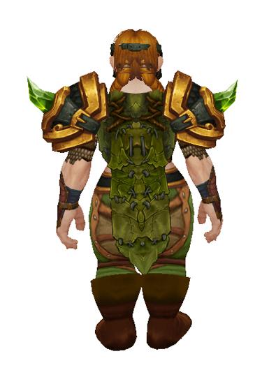 Emerald Hunter set - Back View