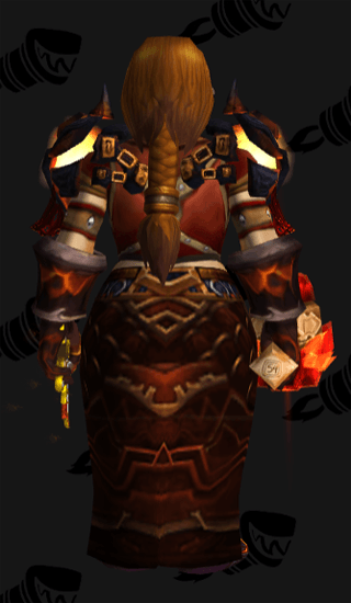 Fiery Rage of the Cataclysm - Back View
