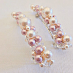 Crystal pearl barrette