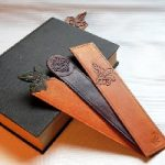 Celtic & Ivy Leather Bookmarks
