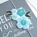 Floral Felt Bookmark