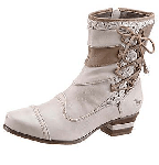 Lace Inlaid Ankle Boots