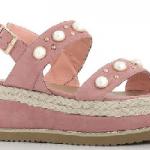 Pink Pearl Strap Flatform