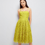 Green Premium Strappy Lace Dress