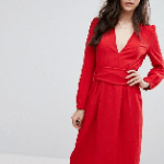BA&SH Red Midi Dress