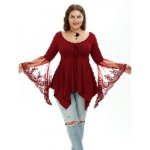 Flare Sleeve Handkerchief Tunic Top