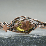 Peridot Copper Bangle