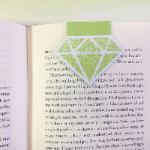 August Peridot magnetic bookmark