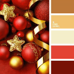 Colour Palette - Red & Gold Christmas