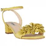 L.K. Bennett Coralie Flower Ruffle Sandals in Lime