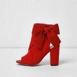 Red Bow Side Shoes