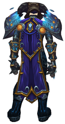 Ice as bright as night transmog - back view