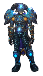 Ice as bright as night transmog - sheathed front view