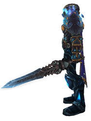 Ice as bright as night transmog - side view