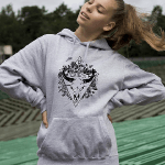 Screen printed Taurus zodiac hoodie