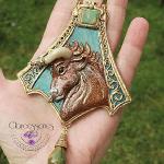 Taurus Art Nouveau necklace
