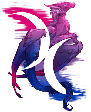 Bisexual Pride Dragon by Kaenith