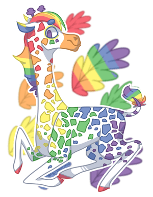 Gay Giraffe by EbonyTails