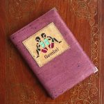 Gemini Purple cork leather notebook