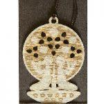 Gemini Wooden zodiac bookmark