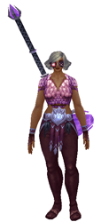 Death by Pink Transmog Set - Front View Sheathed