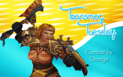 Combat by Orange Transmog Set #TransmogTuesday