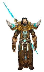 Azerite Wizard Transmog Front View Sheathed