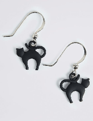 Black Cat earrings from Marks and Spencers