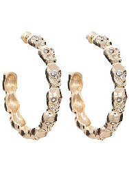 Gold Toned skull hoop earrings