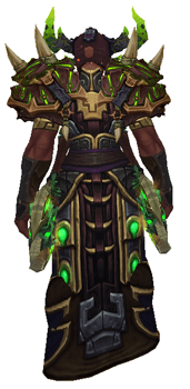 Burning Fel Witch Doctor Set - Back View Sheathed