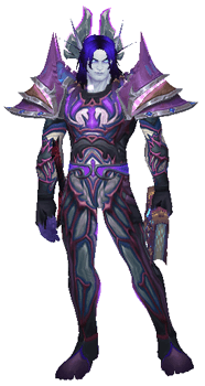 Frostfire Storms Transmog Set - Front View Sheathed