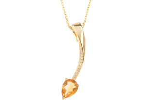 Citrine Shooting Star Pendant from The Fine Jewellery Company.