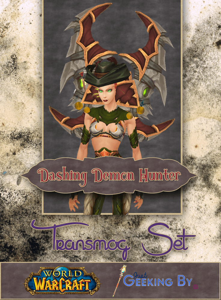 Pin This! I've borrowed a few pieces from other class tier sets to create a unqiue set that will make any Demon Hunter look dashing! Click here to view the full set.