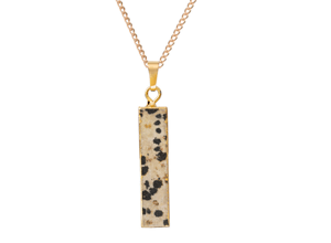 Dalmatian Jasper Bar Pendant Necklace from Not on the High Street