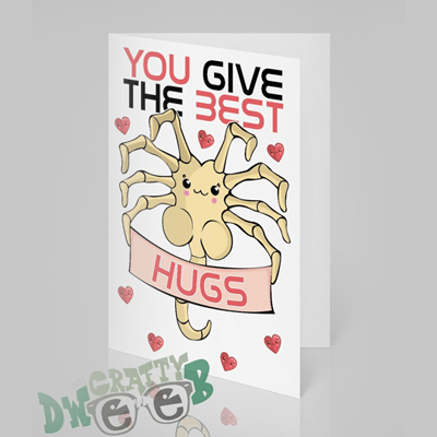You give the best hugs 'Alien themed' Mother's Day card by TheCraftyDweeb